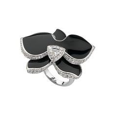 cartier-ring, white gold, diamonds, onyx