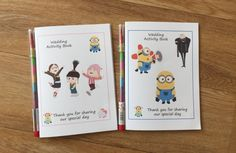 A6 MINIONS Inspired Childrens Kids Wedding by DesignsbyDaisyandMax