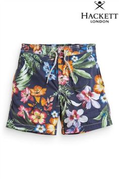 Buy Hackett Black Flower Swim Short (3-16yrs) from the Next UK online shop