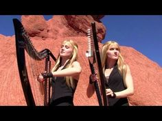 METALLICA - Nothing Else Matters (Harp Twins electric) Camille and Kennerly