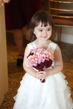 the sweetest #flowergirl ever. @brideandblossom