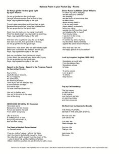 Tracee Orman's FREE Poetry Resource. Celebrate national Poem in your Pocket day by offering students and staff members poems they can carry with them all day. This download has pag...