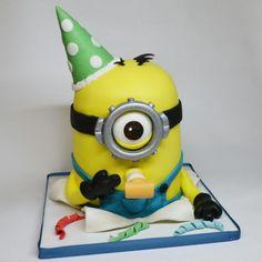 minion 3d cake - Cake by rosa castiello