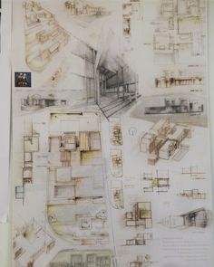 Board architecture hand draw, 1st project