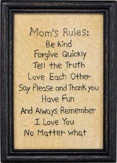 Mom's Rule Stitchery