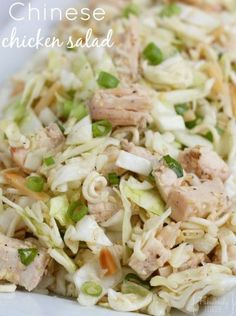 This is an easy Chinese chicken salad with Ramen noodles! Try out a new dinner recipe this week!