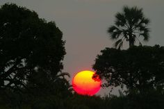 """""""Sunset at Jao Camp: Pictures of African Safari Lodges in Botswana and Namibia"""""""