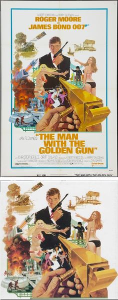 ROBERT McGINNIS - The Man with the Golden Gun - 1974 United Artists - poster by fineart.ha.com - print by robertmcginnis.com