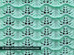 Popular lace knitting pattern - 23 - . Great pattern for beginner.