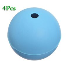 HGHO-4pcs Large Party Whiskey DIY Silicone Ice Ball Mold Sphere Tray