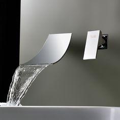 Sprinkle® Wasserfall verbreiteten zeitgenössischen Waschbecken Wasserhahn verchromt waschtischarmatur armaturen badewannenarmatur spültischarmatur wasserhahn bad waschtischarmaturen: Amazon.de: Baumarkt