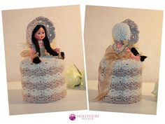 Samhekling! - Hekleguri Design Dolly Varden, Toilet Roll Holder, Retro, Crochet, Mini, Design, Photo Illustration, Chrochet, Crocheting