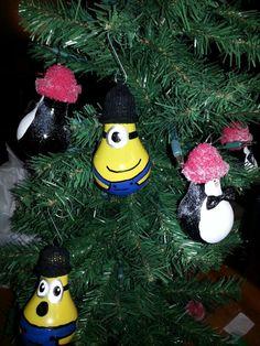 Minion lightbulb ornaments