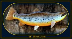 BROWN TROUT wooden fish carving fishing decor fish by WOODNARTS, $150.00