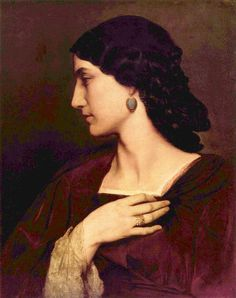 ▴ Artistic Accessories ▴ clothes, jewelry, hats in art - Anselm Feuerbach | Nanna, 1860