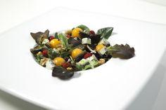 Verrina di Rucola, Melone Mantovano IGP, Gorgonzola piccante, Noci e glassa di Balsamico