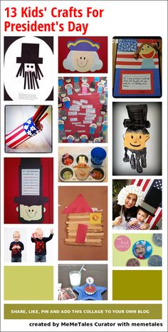 13 fun crafts for President's Day