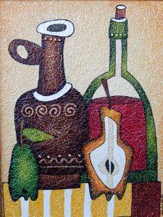 Картины (живопись) : Натюрморт с бутылкой