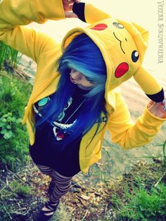 I clicked for the Pikachu coat, repinned for the awesome hair. ;3