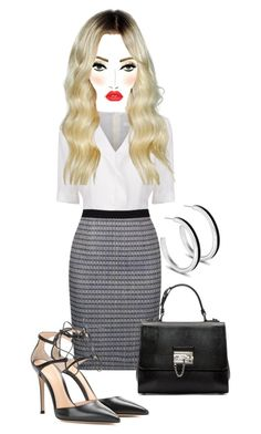 """Untitled #5450"" by mrsmayweather ❤ liked on Polyvore featuring BOSS Black, Gianvito Rossi, Dolce&Gabbana and MAC Cosmetics"