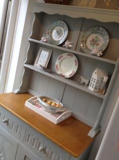 My new dresser painted in Autentico Bleu Gris