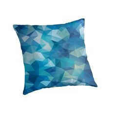 A sea of blue. Water reflections? Or seen from below? Abstract, modern, polygon pattern, with a light touch of grainy texture. Inspired by cubism. • Also buy this artwork on home decor, apparel, stickers, and more.