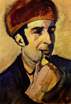 Portrait of Franz Marc, 1910  August Macke