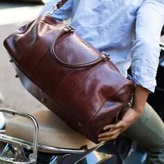 Leather Duffle Bag 21 / Floto 141217 Brown / Travel by FlotoBags