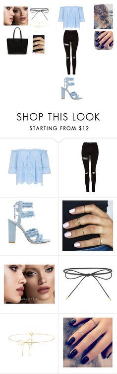 """Unbenannt #129"" by f-eis ❤ liked on Polyvore featuring Topshop, Anastasia Beverly Hills, Elizabeth and James, Lilou, Lottie and Lacoste"