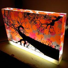 Spiral Tree Plexiglass light box