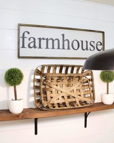 How to Decorate with Wood Signs - A House and a Dog