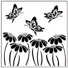 Borboletas & Margaridas estêncil #2426 Mista Pintura, móveis e paredes, faça você mesmo   eBay