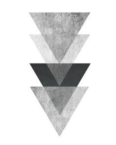 Triangle Print Printable Art Geometric Art print by exileprints Geometric Poster, Geometric Wall Art, Abstract Wall Art, Geometric Shapes, Geometric Designs, Art Scandinave, Dreieckiges Tattoos, Minimal Art, Triangle Print