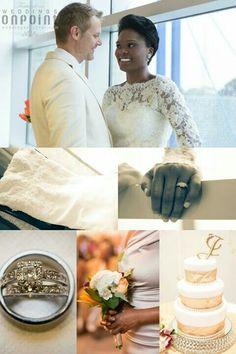 Beautiful interracial couple on their wedding day #love #wmbw #bwwm