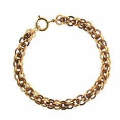 Vintage Interwoven 18k Gold Charm Bracelet Charmco