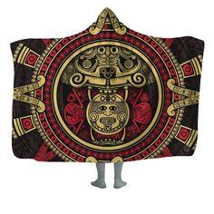 Details about  /Azetc Inca Stripe Animal Throw Blanket Hooded Adult Fleece Plush Lining Cloak