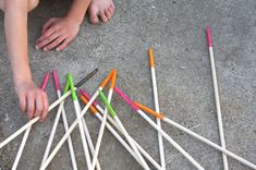 SINGING TIME IDEA: Giant Pick up Sticks.  Could put a song title or page number on each stick.  Play as usual.  Don't know the rules?  Go here: http://www.pressmantoy.com/instructions/pickupsticks.html