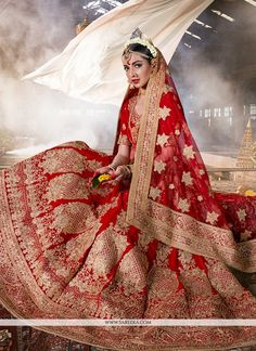 Bring out the true diva in you and reinvent your true self. Make the heads turn as soon as you dress up in this kind of a lovely red velvet a line lehenga choli. You can see some fascinating patterns�...