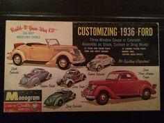 Model kit box art '36 Ford
