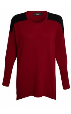 Donna Ida IDA The Dazzler Boyfriend Jumper in Ruby #ida #donnaida #cashmere