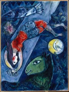 Marc Chagall, Blue Circus. #art #artists #chagall