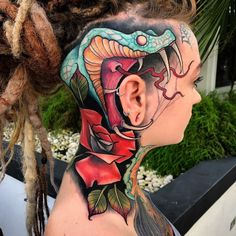 Trendy Tattoos, New Tattoos, Tribal Tattoos, Scary Tattoos, Cool Tattoos, Tattoo Designs And Meanings, Tattoos With Meaning, Cool Snakes, Beauty Hacks Lips