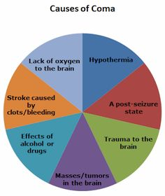 Chart showing causes of coma. This is very important to all of you fiction writers out there.