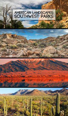 American Landscapes: Southwest Parks | Desert views, ancient ruins and sand dunes in the Southwest. #arizona #sedona #utah #colorado #nationalparks #optoutside