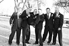 Groomsmen and Fathers having fun with the Groom just before the ceremony. Photo by His Image Photography