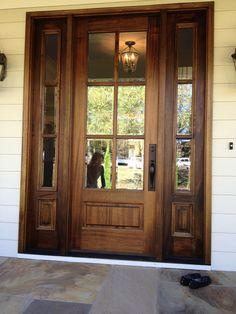 Knotty alder craftsman entry door with side lites | Knotty alder ...