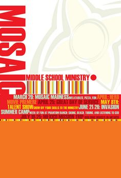 postcard design for youth ministry.   I like this idea of highlighting the Summer Upcoming Events this way.
