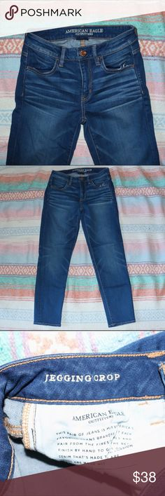 "NWOT American Eagle Medium Wash Jegging Crop •NWOT •size 4 regular •light distressing on pockets  •24"" inseam  Let me know if you have any questions :) American Eagle Outfitters Jeans Ankle & Cropped"