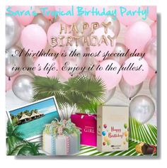 """Sara's Tropical Birthday Party! - Contest!"" by sarguo ❤ liked on Polyvore featuring Charbonnel et Walker"