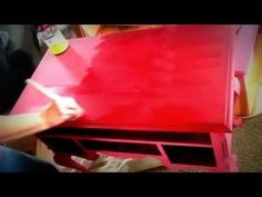 How to Apply Clear Wax to Chalk / Clay Painted Furniture by Shizzle Design - YouTube